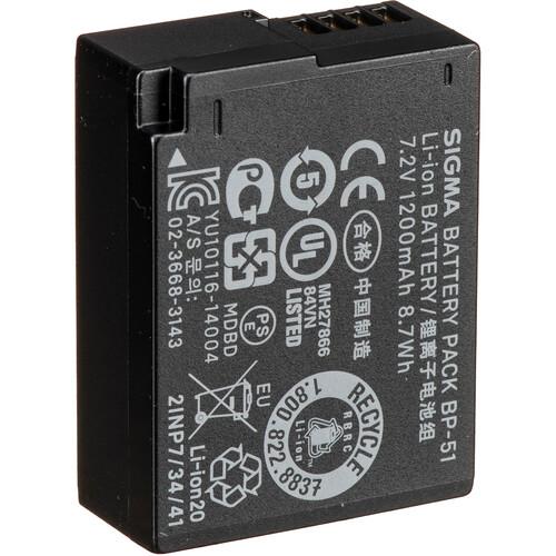 Sigma BP-51 Lithium-Ion Battery Pack (7.2V, 1200mAh)