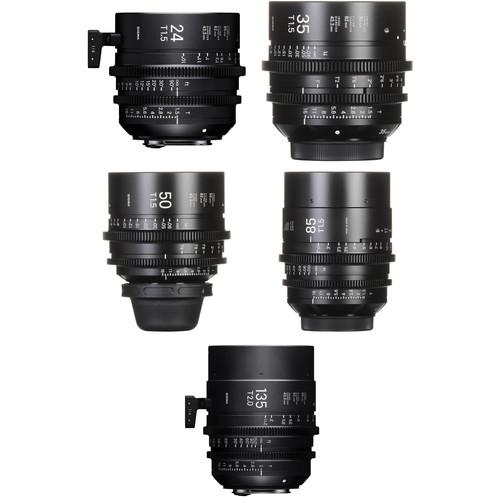 Sigma FF High-Speed 24, 35, 50, 85 & 135mm Prime Lens Bundle (PL Mount)