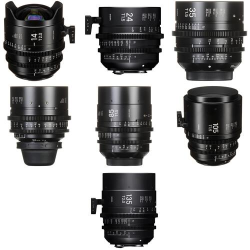 Sigma FF High-Speed 24, 35, 50, 85 & 135mm Prime Lens Bundle (EF Mount)