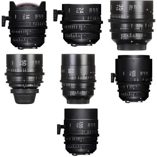 Sigma FF High-Speed Prime PL Mount 7-Lens Kit (14, 24, 35, 50, 85, 105, 135mm)