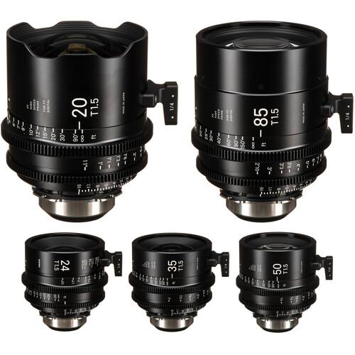 Sigma T1.5 Cine FF High-Speed Art Prime 5-Lens Set (PL, Feet)
