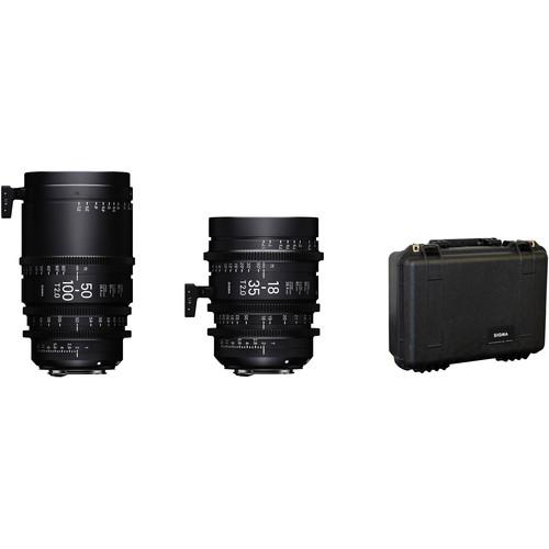 Sigma 18-35mm T2 + 50-100mm T2 + Case Pmc-001F/VE FL