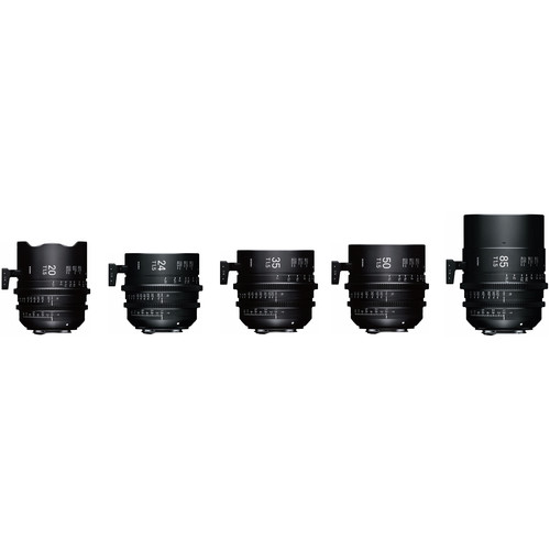 Sigma Fully Luminous FF High Speed 5 Prime Lens Kit with Case (Sony E Mount, Feet)
