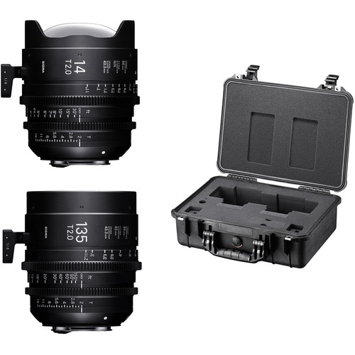 Sigma 14/135mm Fully Luminous FF High Speed Prime Lens Kit with Case (E Mount)