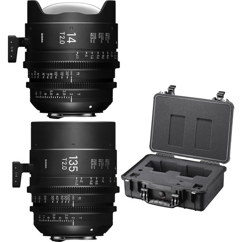 Sigma 14/135mm Fully Luminous FF High Speed Prime Lens Kit with Case (PL Mount)