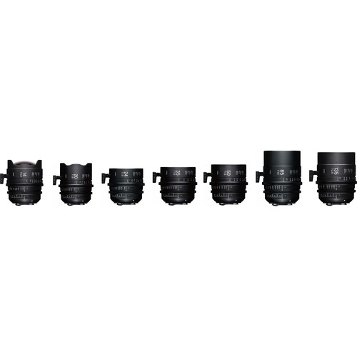 Sigma Fully Luminous FF High Speed 7 Prime Lens Kit with Cases (Sony E Mount, Feet)
