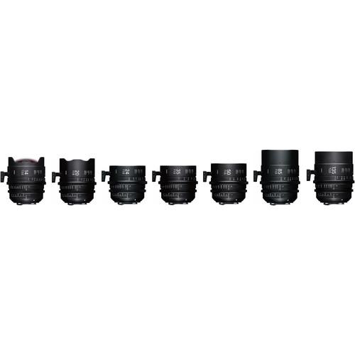 Sigma High Speed Prime Seven Lens Set Plus Case (E Mount, Feet, Fully Luminous)