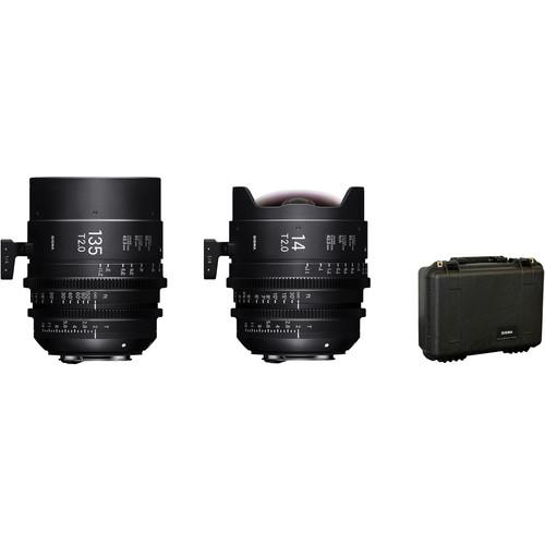 Sigma 14/135mm FF High Speed Prime Lens Kit with Case (EF Mount)