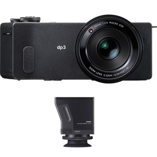 Sigma dp3 Quattro Digital Camera and LVF-01 LCD Viewfinder Kit