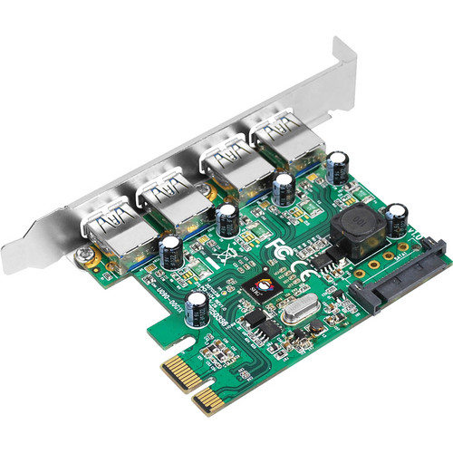 SIIG 4-Port USB 3.0 SuperSpeed PCIe Adapter Card