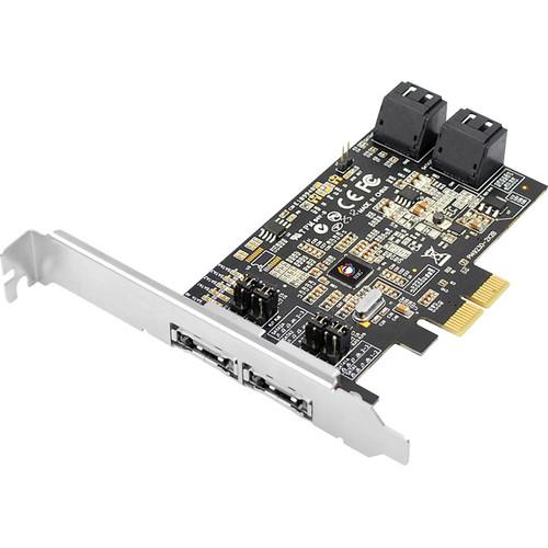 SIIG 4-Port SATA 6 Gb/s Dual Profile Hybrid PCIe Controller (Black PCB)