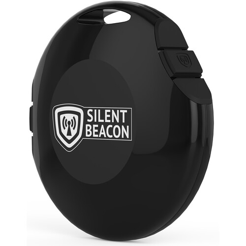Silent Beacon Wearable Safety Device (Black)