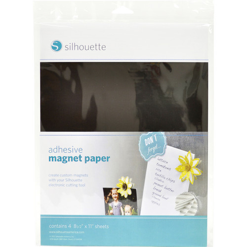 """silhouette Printable Adhesive Magnet Paper (8.5 x 11"""", 4 Sheets)"""