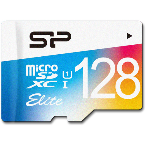 Silicon Power 128GB Elite UHS-I microSDXC Memory Card