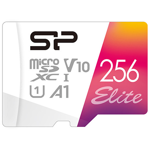 Silicon Power 256GB Elite UHS-I microSDXC Memory Card with SD Adapter