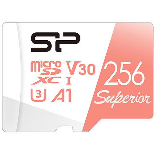 Silicon Power 256GB Superior UHS-I microSDXC Memory Card with SD Adapter