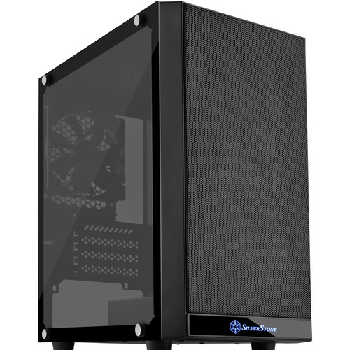 SilverStone PS15B-G Precision Micro-ATX/Mini-DTX Chassis with Tempered-Glass Side Panel