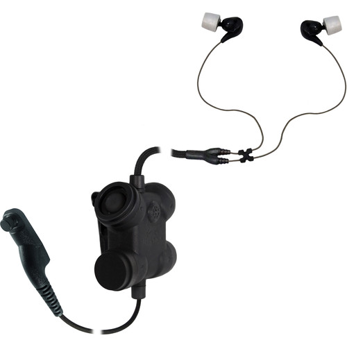 Silynx Communications Clarus FX2. Clarus FX2 Control Box, Fixed Dual In-Ear Headset, Kenwood NX300 Radio Adapter (Black)