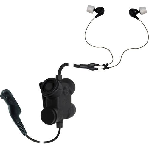 Silynx Communications Clarus FX2. Clarus FX2 Control Box, Fixed Dual In-Ear Headset, Yaesu VX6R/FT-270/HX40/HS150 (Black)