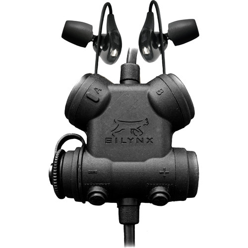Silynx Communications Clarus Kit, In-Ear Headset, In-Ear Mic, MBITR/PRC117/152 6-Pin Cable Adapter (Black)