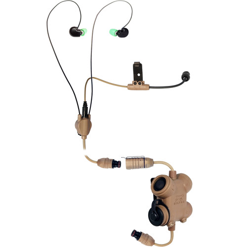Silynx Communications Clarus Kit, Clarus Control Box, In-Ear Headset with In-Ear Mic, Micro Boom Mic (Tan)