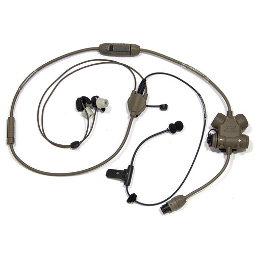 Silynx Communications CLAR-T-H-002 Hybrid CLARUS Kit & Smart Tactical Headset System (Tan)