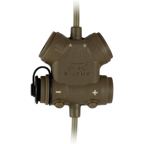 Silynx Communications CLARUS U95 PTT Modular PTT System, 6-Pin Radio Adapter with Quick Disconnect Connectors (Tan)