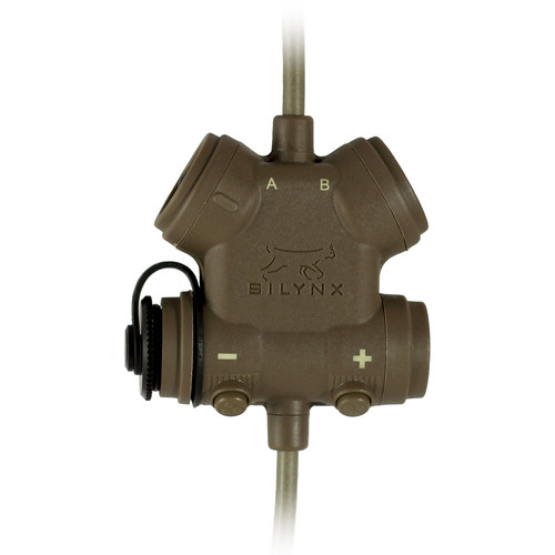Silynx Communications CLARUS U95 PTT Modular PTT System, Motorola APX Radio Adapter with Quick Disconnect Connectors (Tan)