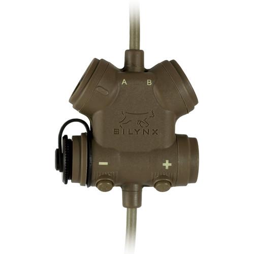 Silynx Communications CLARUS XPR. Clarus Control Box, Single In-Ear Headset, In-Ear Mic, MBITR/PRC117/152 Adapter (Tan)