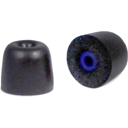Silynx Communications Foam Ear Tips with Protective Hygiene Barrier, Threadable (Medium, Black, 3-Pairs)