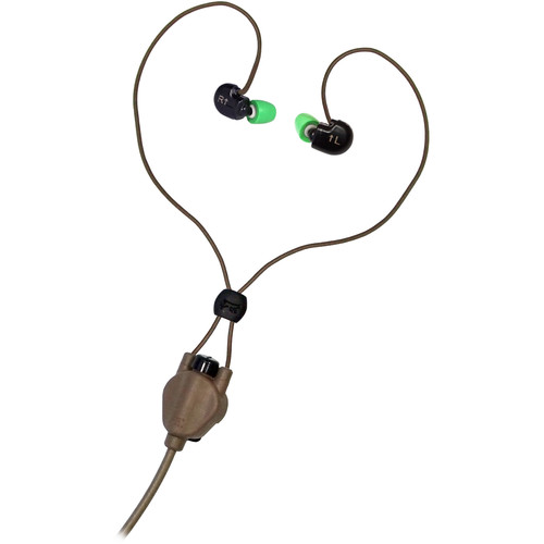 Silynx Communications Clarus Headset, In-Ear Microphone without Micro Boom Mic (Tan)