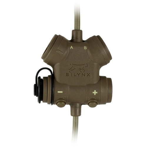 Silynx Communications CLARUS Control Box, Single Lead (No Headset or Radio Adapter, Tan)