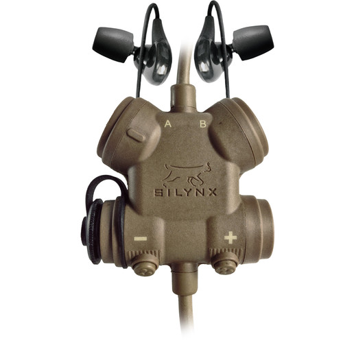 Silynx Communications CLARUS XPR Smart Tactical Headset Kit with Lynx Dual In-Ear Headset (Tan)