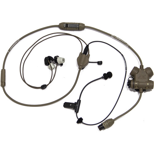 Silynx Communications CLARUS Smart Tactical Headset Kit with In-Ear Headset (Tan)