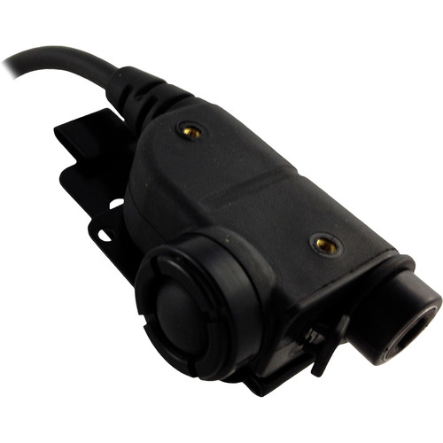 Silynx Communications U94 Chest Mountable Push-to-Talk Comm System with 6-Pin Connector (Straight Cable, NATO Wiring)