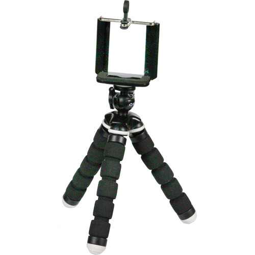 Sima Bendable Tripod with Smartphone Clip (Black)
