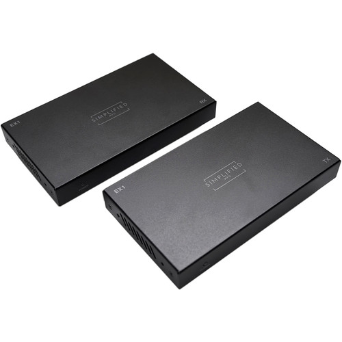 Simplified HDMI 18 Gbps Extender Set with PoE over Cat 5e/Cat 6 (230')