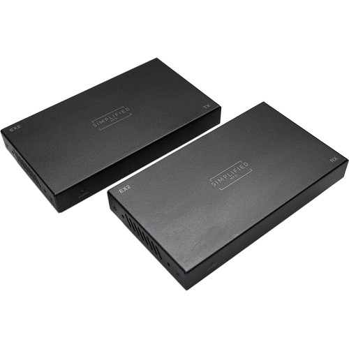 Simplified HDMI 18 Gbps Extender Set with PoE over Cat 5e/Cat 6 (330')