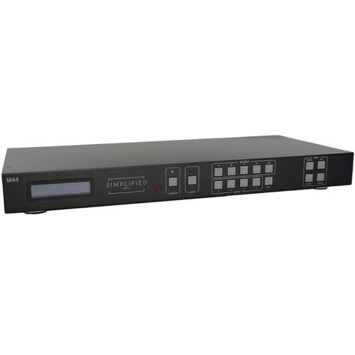 Simplified M44 4x4 HDMI Matrix Switch