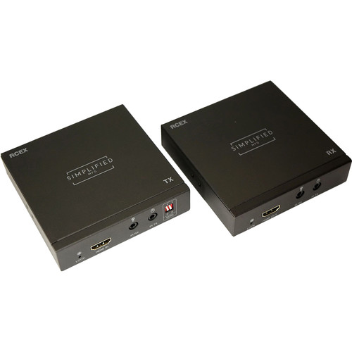 Simplified HDMI over Single Coax Extender Set with IR Control (328')