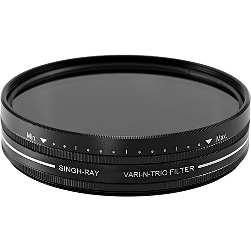 Singh-Ray 55mm Vari-N-Trio Variable Neutral Density, Warming Circular Polarizer, and Color Intensifier Filter