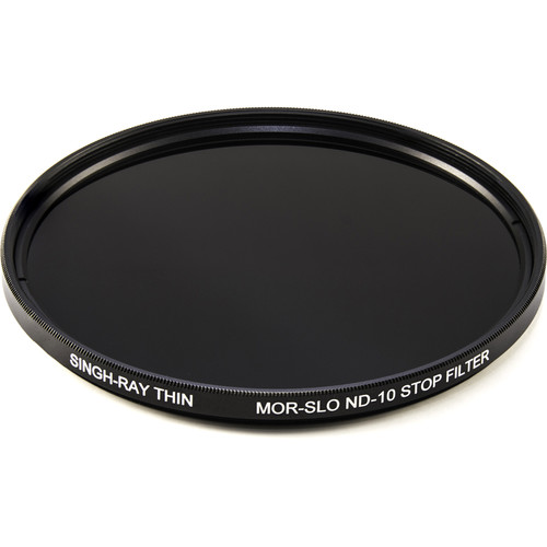 Singh-Ray 77mm Thin Mor-Slo Solid Neutral Density 3.0 Filter with Front Filter Threads (10 Stops)