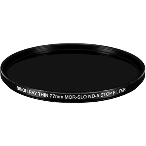 Singh-Ray 77mm Thin Mor-Slo Solid Neutral Density 1.5 Filter with Front Filter Threads (5-Stop)