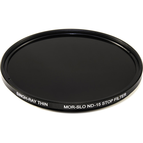 Singh-Ray 82mm Thin Mor-Slo Solid Neutral Density 4.5 Filter with Front Filter Threads (15 Stops)