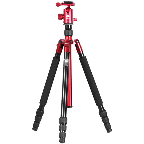 Sirui T-004X Aluminum Tripod with C-10X Ball Head (Red)