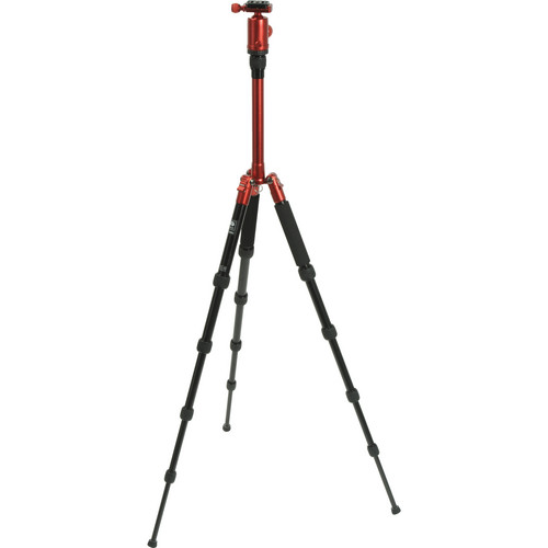 Sirui T-005X Aluminum Tripod with C-10X Ball Head (Red)