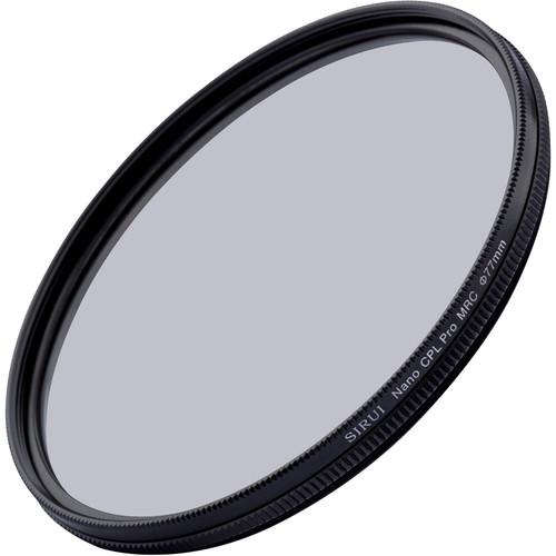 Sirui 77mm Nano MC Circular Polarizer Filter, Aluminum Ring