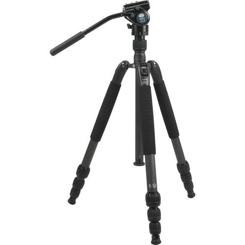Sirui N-1204SK N-S Series Carbon Fiber Tripod & VA-5 Ultra-Compact Video Head Kit