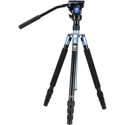 Sirui Aluminum Travel Video Tripod Kit (Blue)