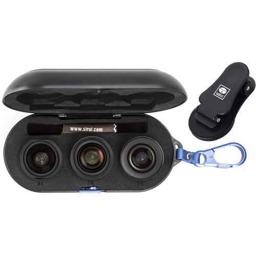 Sirui 3-Lens Mobile Phone Kit (Black Wide-Angle, Portrait, and Fisheye)